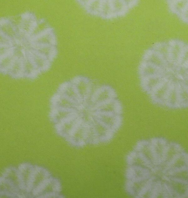 和紙 菊すき込み 黄緑