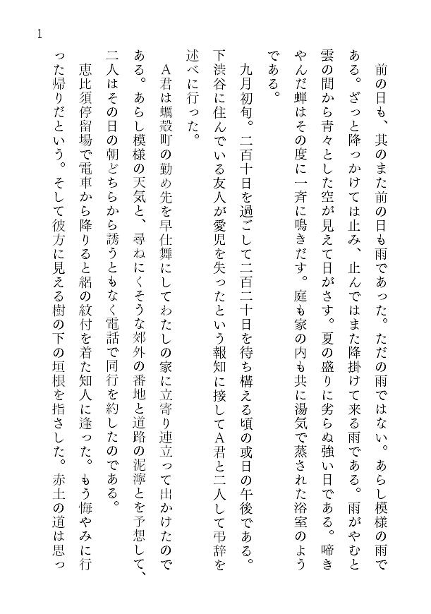 1ページあたりの文字数とレイアウト2