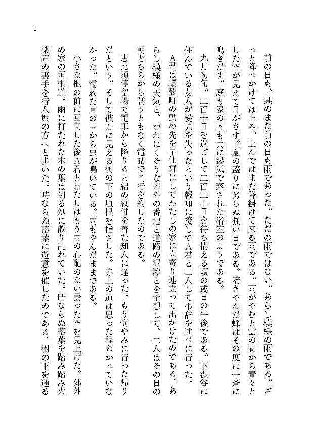 1ページあたりの文字数とレイアウト3