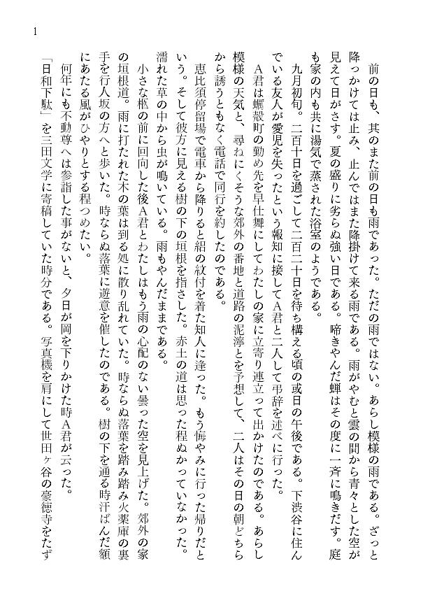 1ページあたりの文字数とレイアウト4